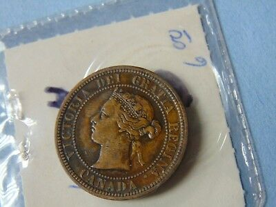 1876-H Canada One Cent Foreign Coin ESTATE COIN SALE NICE COIN QUICK SHIP