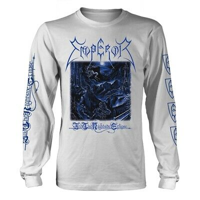 Emperor 'In The Nightside Eclipse' White Long Sleeve T shirt - NEW