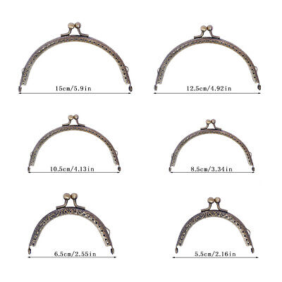 3 Sizes Metal Clasp Lock Frame For Coin Purse Bag DIY Making Vintage Gothic