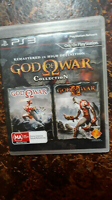 Ps3 Game: God Of War 2 Collection(1 & 2) Hd Remastered V Gd Cond - Fast Post