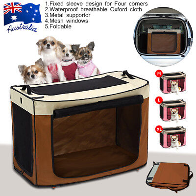 HQ Large Foldable Pet Dog Cat Carrier Soft Crate Cage Travel Bag Kennel Portable