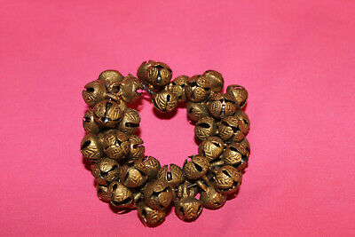 """BRASS BELLS LOT OF 50 Small 1/4"""" Metal Craft Bead Bells Ethnic MADE IN INDIA"""