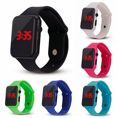 Fashion Electronic Digital Kids/Child/Boy's/Girl's Waterproof LED Display Watch
