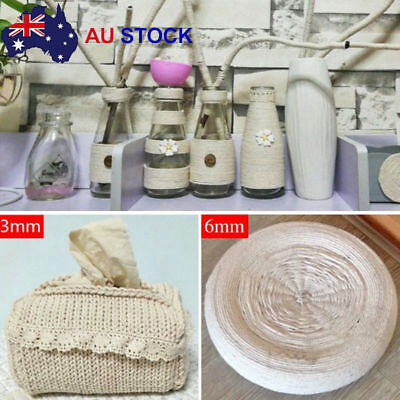 2/3/4mm Macrame Rope Natural Beige Cotton Twisted Cord Artisan Hand DIY Craft