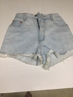 Vintage Steel Jeans Shorts Womens Size 24 High Waisted 80/90s Light Wash