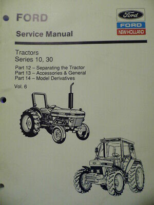 FORD NEW HOLLAND 10&30 Series Tractor Service Manual Part 3 ... New Holland Tractor C Wiring Diagrams on