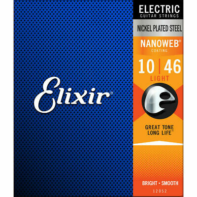 Electric Nanoweb Light Guitar Strings Elixir 12052 010-046