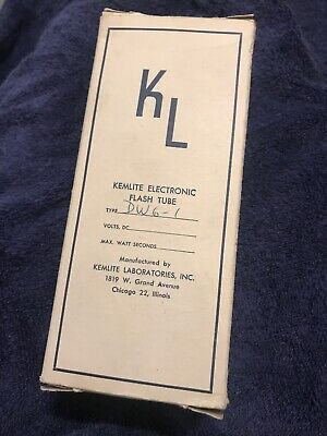 KEMLITE DW6 Electronic Flash Tube Frosted NOS NEW