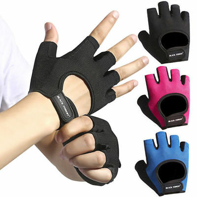Sports Fingerless Gloves Men Women Athletic Weight Lifting Gym Training Driving