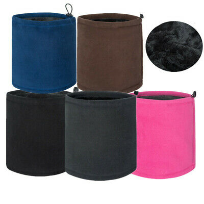 Winter Dual-layer Fleece Neck Tube Warmer Men Women Scarf Beanie Snood Face Mask