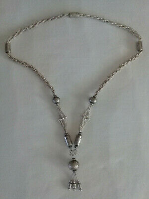 Necklace Tribal Tassel Ethnic Silver Beads