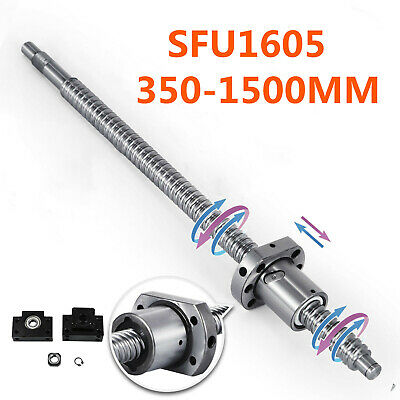 Antibacklash Ball Screw SFU1605 L350mm-1500mm & BK/BF12 + 6.35x10mm Coupler Set