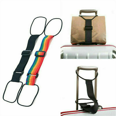 Adjustable Add A Bag Strap Travel Luggage Suitcase Belt Carry On Bungee Strap HS
