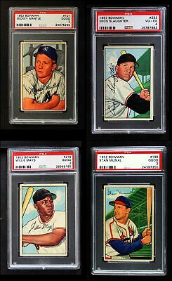 1952 Bowman Baseball Complete Set GD+