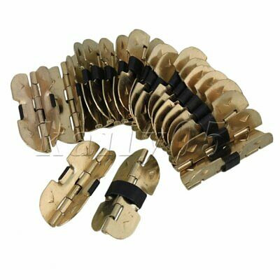 20pcs 30mmx13mm Mini Gold Iron Cabinet Hinges for Wooden Box Drawer Purse