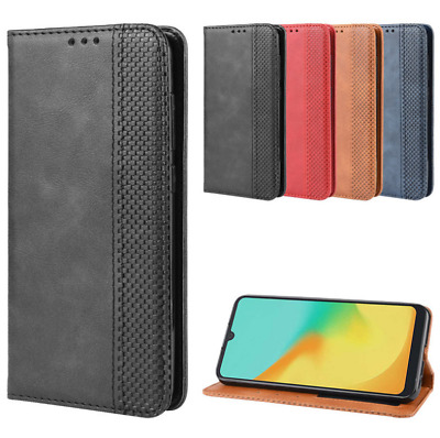 For ZTE Blade A5 2019/A7 2019 Luxury Magnetic Leather Wallet Flip Case Cover