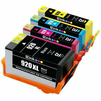 4 PK EMPTY Refillable ink cartridge with chip for HP 920 XL