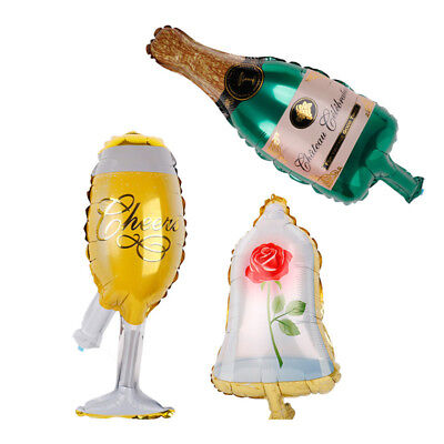 Champagne Rose Balloons Birthday Party Decorations Kids Wedding Xmas Supplies HU