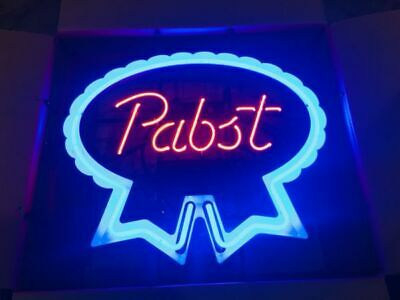 Pabst Blue Ribbon Lager Bar Beer Neon Light Sign 20x16 Artwork Poster Collectibles