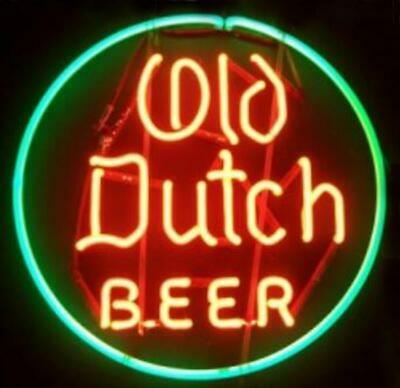 "New Old Dutch Beer Neon Light Sign 24""x24"" Lamp Poster Real Glass Beer Bar"