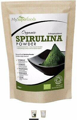 Organic Spirulina Powder (500 Grams) | MySuperFoods | Packed with Protein,