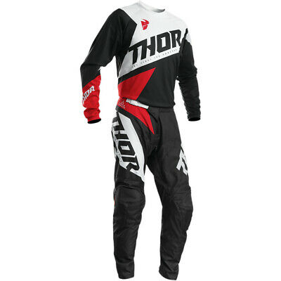 Thor 2020 S20 Sector Blade Race Kit Suit Charcoal Red Motocross Bmx Off Road New