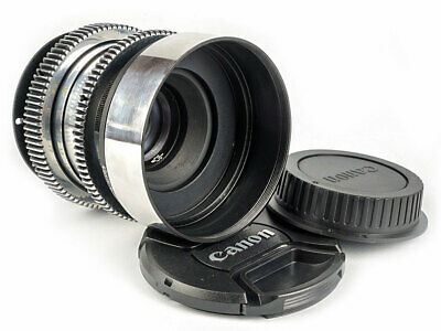 58 mm/F 2 Helios Standard lens for Filmakers Silver lens for CANON EOS EF mount