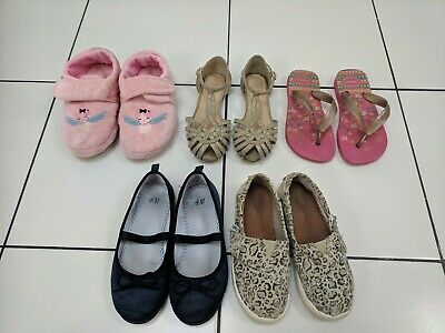 Girls UK Child 10  & 11.5 Shoe bundle Sandles Toms Havaianas Next H&M Debenhams