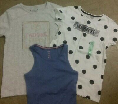 Girls Age 9 Years Next Vest Top (New) & Girls X2 Primark Top Age 10-11years(New)