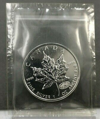 2000 $5 Canada Maple Leaf Millennium Privy 1oz .9999 Fine Silver Coin ~ FIREWORK