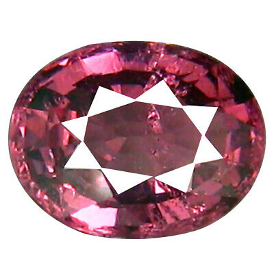 1.15 CT Significant Coupe Ovale (7 X 5 mm) Tanzanie Rose Malaya Gemme Grenat