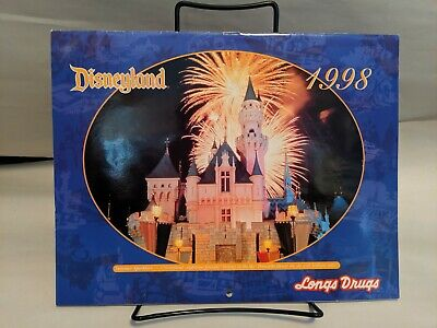 Disneyland Longs Drugs Promotional 1998 Calendar Ephemera Paper Craft