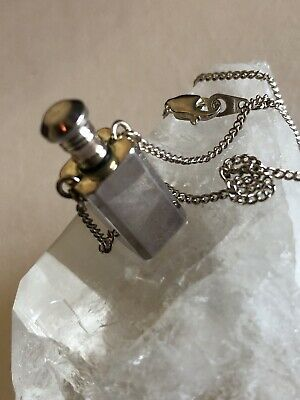 Vintage Sterling Silver Perfume Bottle Pendant Necklace