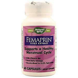 FEMAPRIN VITEX EXTRACT - 60 Capsules - Nature's Way - $17 71