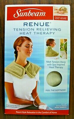 """New Sunbeam Renue Tension Relieving Heat Therapy Pad 14""""x 22"""" Free Shipping"""