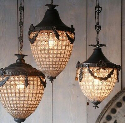 Antique, French Chandelier, Vintage, Industrial, Acorn Chandelier MANY AVAILABLE
