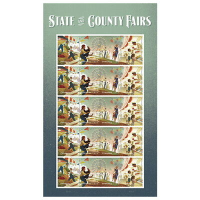 USPS State and County Fairs one Sheet of 20 Forever Stamps