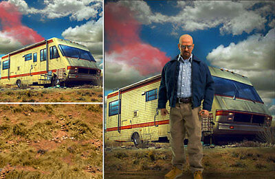 Poster Backdrop Ships Rolld~Breaking Bad~For 1/6 Figure Hiesenberg Pinkman White