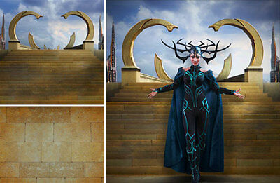 Poster Backdrop Ships Rolled~Thor~Asgard For 1/6 Hot Toys Figures Hela Ragnarok