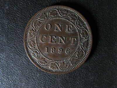 1 cent 1896 Canada one penny copper coin large Queen Victoria c ¢ VF-30