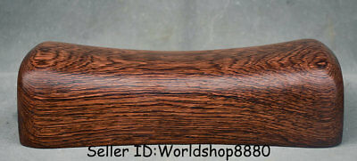 "10.4"" Rare Old China Huanghuali Wood Dynasty Natural Lines weeping willow pillow"