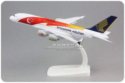 Singapore Airlines Airbus A380 9V-SKI Airplane 20cm Solid DieCast Plane Model
