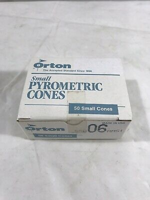 NEW Orton Small Pyrometric Cones SRB 06 AMS1 Pack of 50 Ceramic Kiln Cones NOS