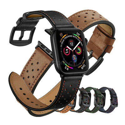 Dots Genuine Leather Watch Band Strap For Apple Watch iWatch Series 5 4 3 2