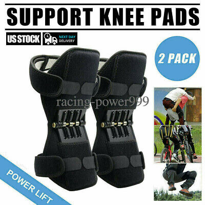 1pair Joint Support Knee Stabilizer Pads Powerful Lift Rebound Spring Force