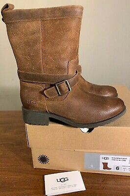 b81a1d882a6 UGG AUSTRALIA GLENDALE SHORT BOOTS LEATHER Black Dove Chipmunk ...