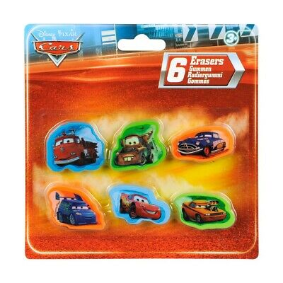 Lot de 6 gomme Cars Disney enfant new