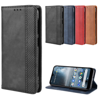 For Nokia 2.2 4.2 Luxury Magnetic Classic PU Leather Wallet Flip Case Cover
