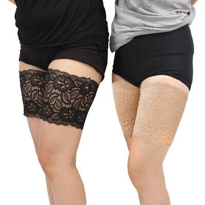 Pair Anti Chafing Abrasion Thigh Bands Women Stylish Non Slip Lace Elastic Sock