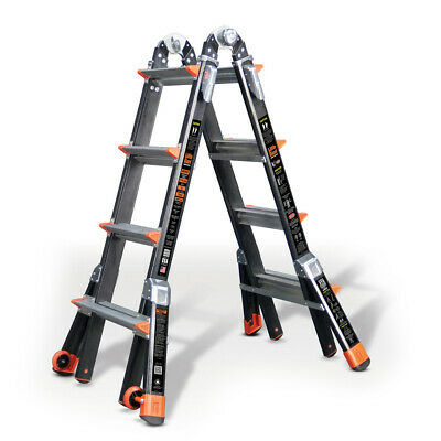 Little Giant Dark Horse Fibreglass Ladder - Multi-Purpose Ladder -  4 Rung/Tread
